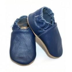 Kožené capačky Babice - tmavo modré