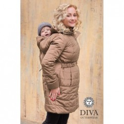 Bunda zimná Diva Milano 4 v 1 Moka