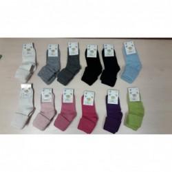 Vlnené ponožky Diba jednofarebné v. 3