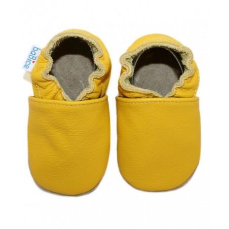 Kožené capačky - žlté