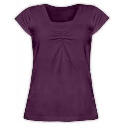 Klaudia - tričko na dojčenie, krátke rukávy slivková