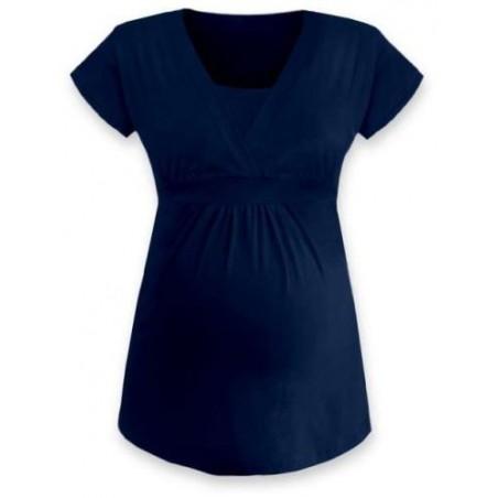 Anička - tričko na dojčenie, krátke rukávy, tmavomodrá jeans