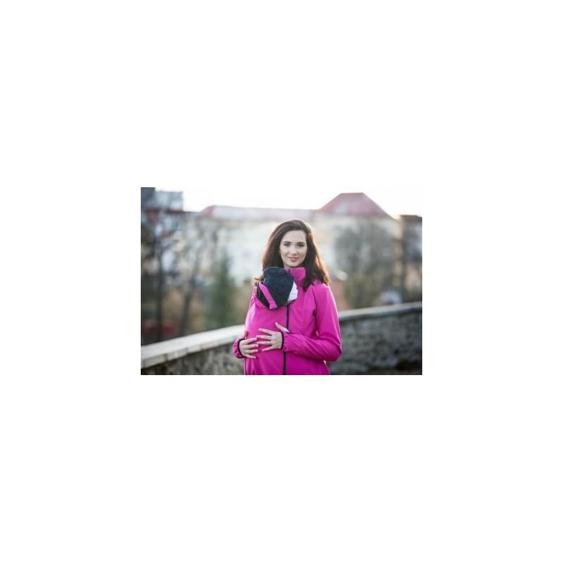 Softshellová bunda magenta