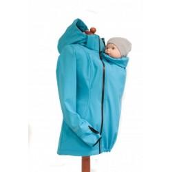 Softshellová bunda tyrkysová
