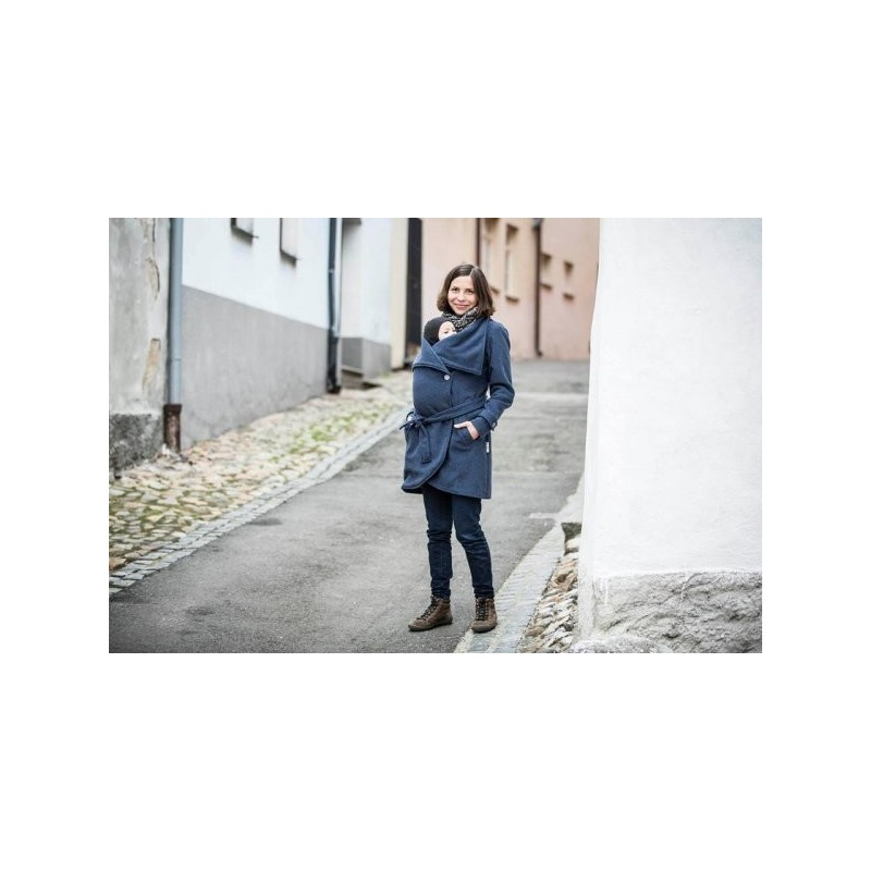 Vlnený kabát modrý