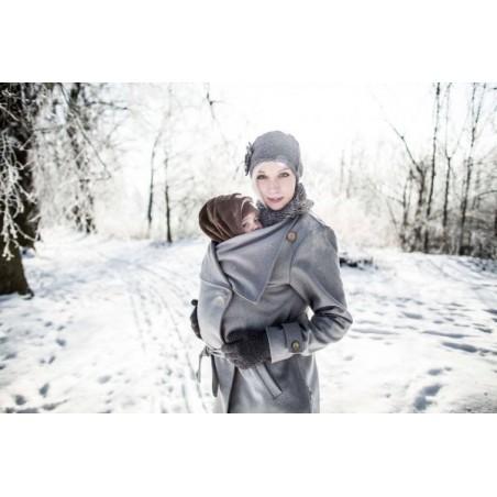 Vlnený kabát sivý