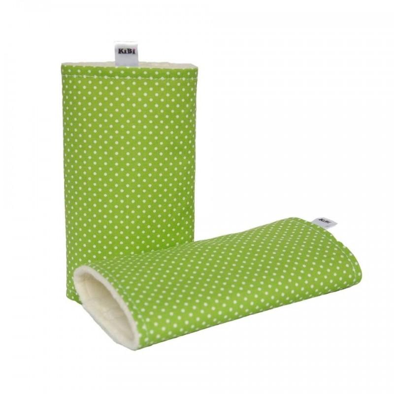 Chrániče ramenných popruhov Kibi  zelené bodky