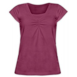 Klaudia - tričko na dojčenie, krátky rukáv, cyklámenová
