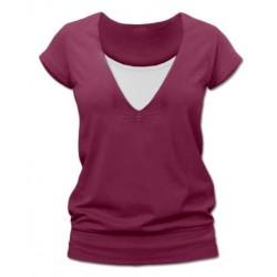 Karla - tričko na dojčenie, krátke rukávy, cyklámenová