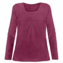 Klaudia - tričko na dojčenie, dlhý rukáv, cyklámenová