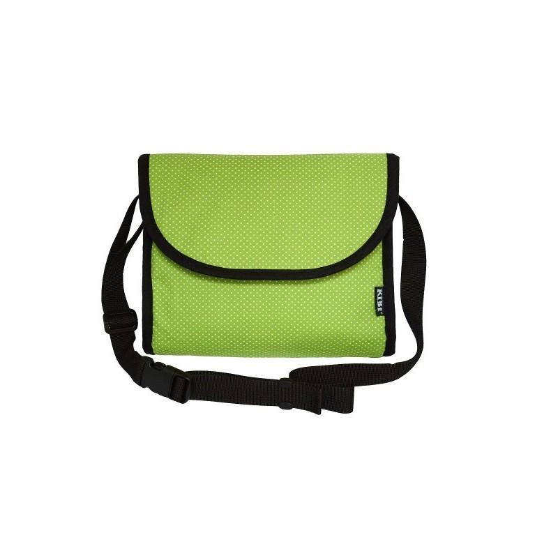 KiBi taška Zelená s bodkami