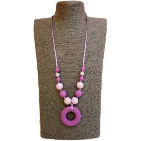 Náhrdelník donut stredne fialová - sv. fialová