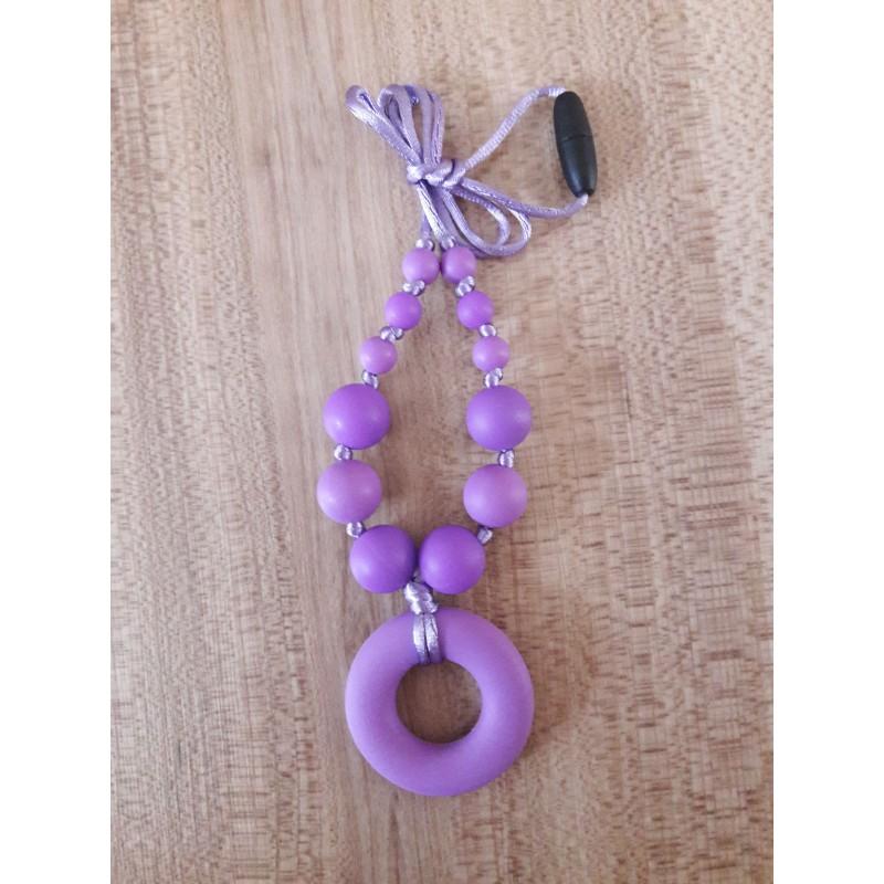 Náhrdelník donut stredne fialová/fialová