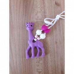 LImitovaná edícia - fialová žirafa s ružovou a bielou