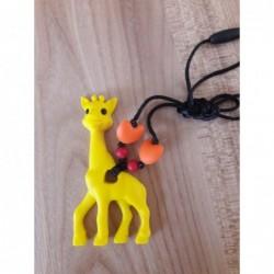 LImitovaná edícia - žltá žirafa s červenou a oranžovou