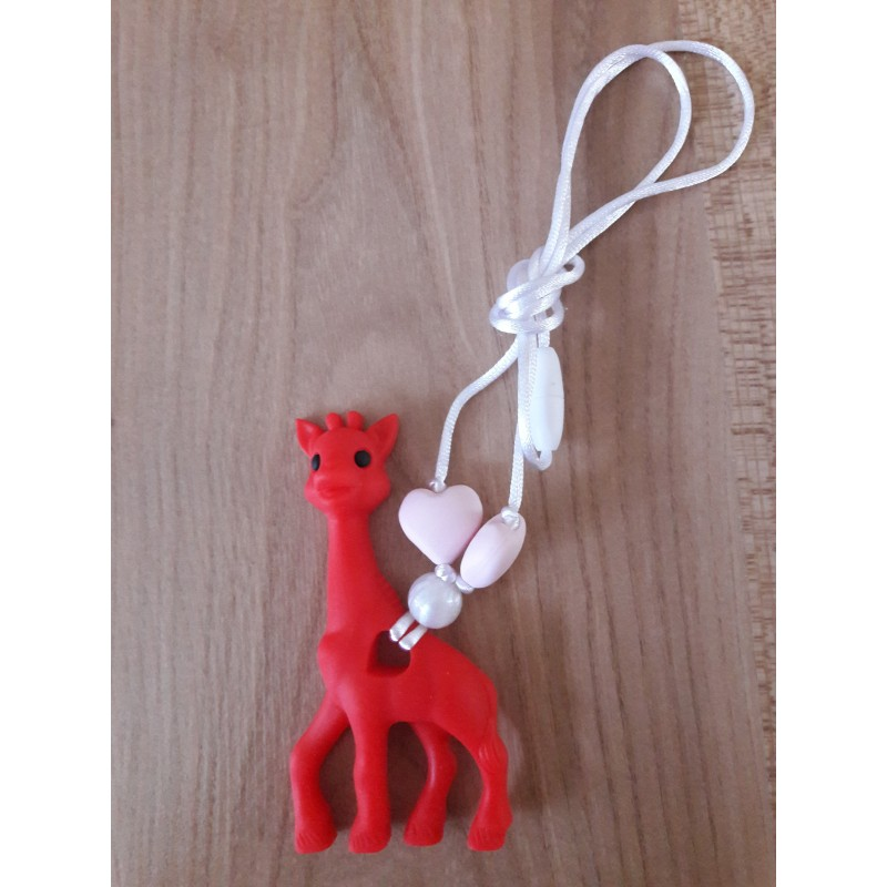 LImitovaná edícia - červená žirafa s bielou a sv. ružovou