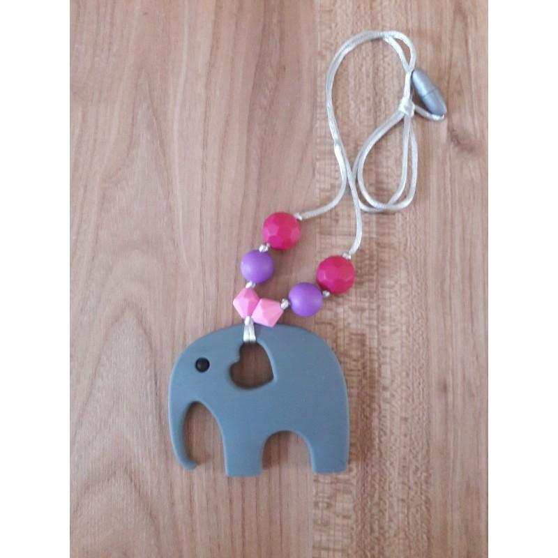 LImitovaná edícia - sivý slon s ružovou, fialovou a tm. ružovou