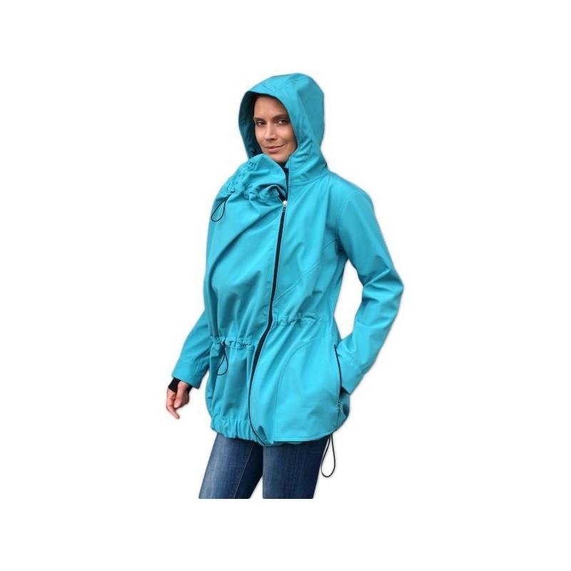 Pavla 2 - softshellová bunda na nosenie detí tyrkysová