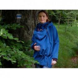 Pavla 2 - softshellová bunda na nosenie detí petrolejová