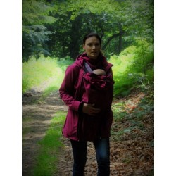Pavla 2 - softshellová bunda na nosenie detí fuchsiová