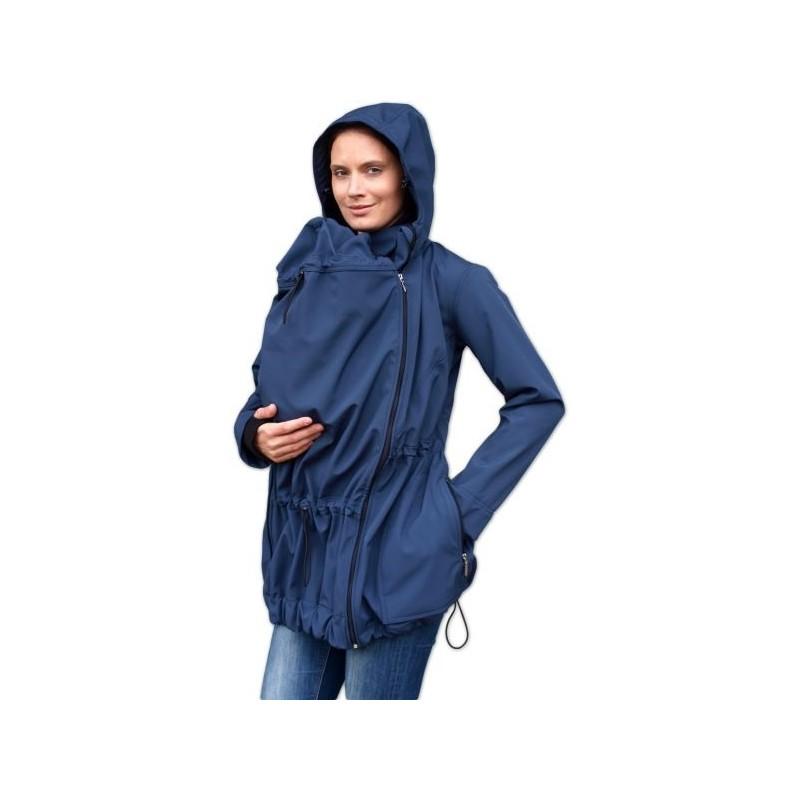 Pavla 2 - softshellová bunda na nosenie detí tm. modrá