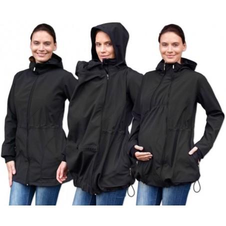 Pavla 2 - softshellová bunda na nosenie detí čierna