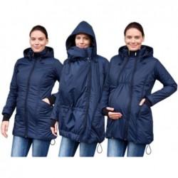 Zora - zimná bunda na nosenie detí tm. modrá