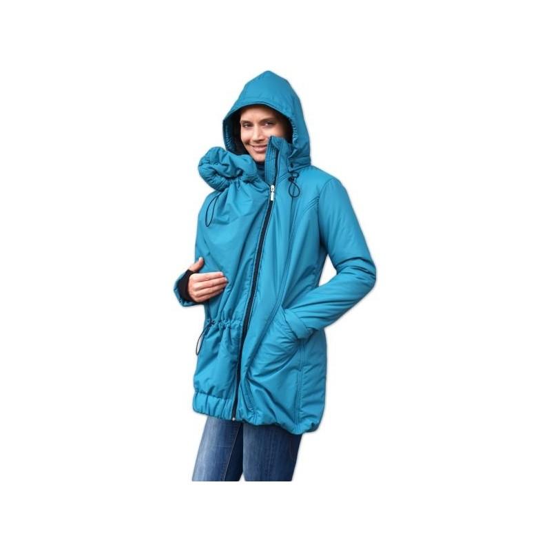 Zora - zimná bunda na nosenie detí petrolejová