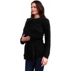 ZINA - zavinovací fleesový kabátik čierny