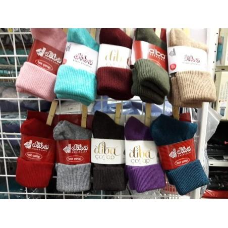 Vlnené ponožky Diba jednofarebné dámske