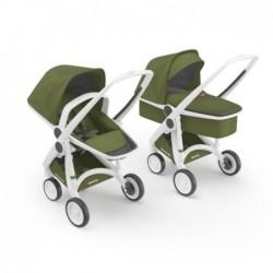 Kočík Greentom Carrycot+Reversible biely podvozok