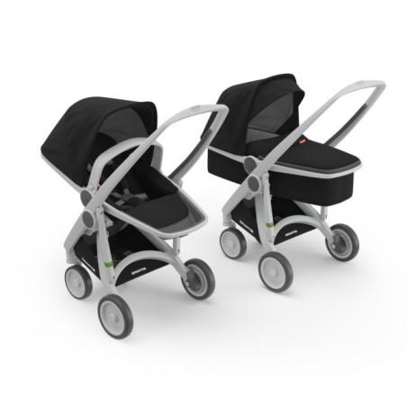 Kočík Greentom Carrycot+Reversible sivý podvozok