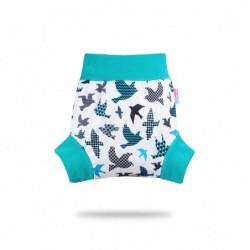 Pull-up vrchné nohavičky Petit Lulu Tyrkysové vtáčiky