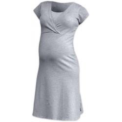 Nočná košeľa Eva krátky rukáv sivý melír