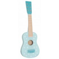Jabadabado Drevená detská gitara modrá