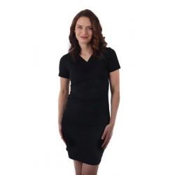 Amálie - šaty na dojčenie, krátky rukáv, čierna