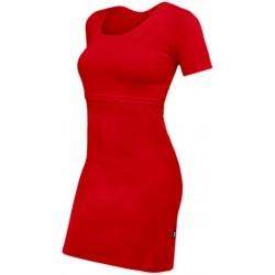 Elena - šaty na dojčenie, krátky rukáv, červené