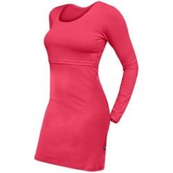 Elena - šaty na dojčenie, dlhý rukáv, lososovo ružová