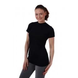 Meda - merino tričko na dojčenie, krátky rukáv, čierna