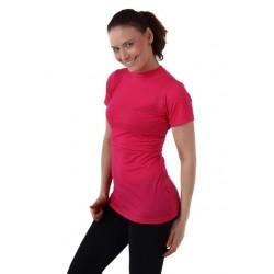 Meda - merino tričko na dojčenie, krátky rukáv, ružová