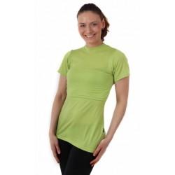 Meda - merino tričko na dojčenie, krátky rukáv, zelená