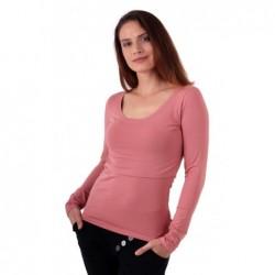 Kateřina - tričko na dojčenie, dlhé rukávy, staroružová