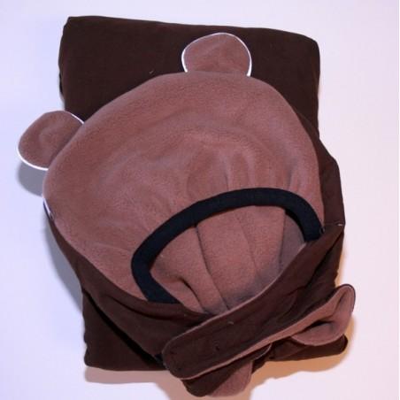 MaM ochranná kapsa zimná kolekcia 2013 hnedá - hnedé medvedie uši