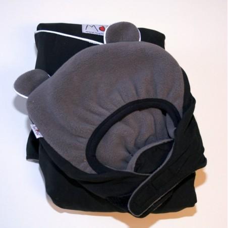 MaM ochranná kapsa zimná kolekcia 2013 čierna - šedé medvedie uši