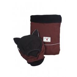 MaM ochranná kapsa DELUXE - Amaranth Wood - Black,  reflexné prvky