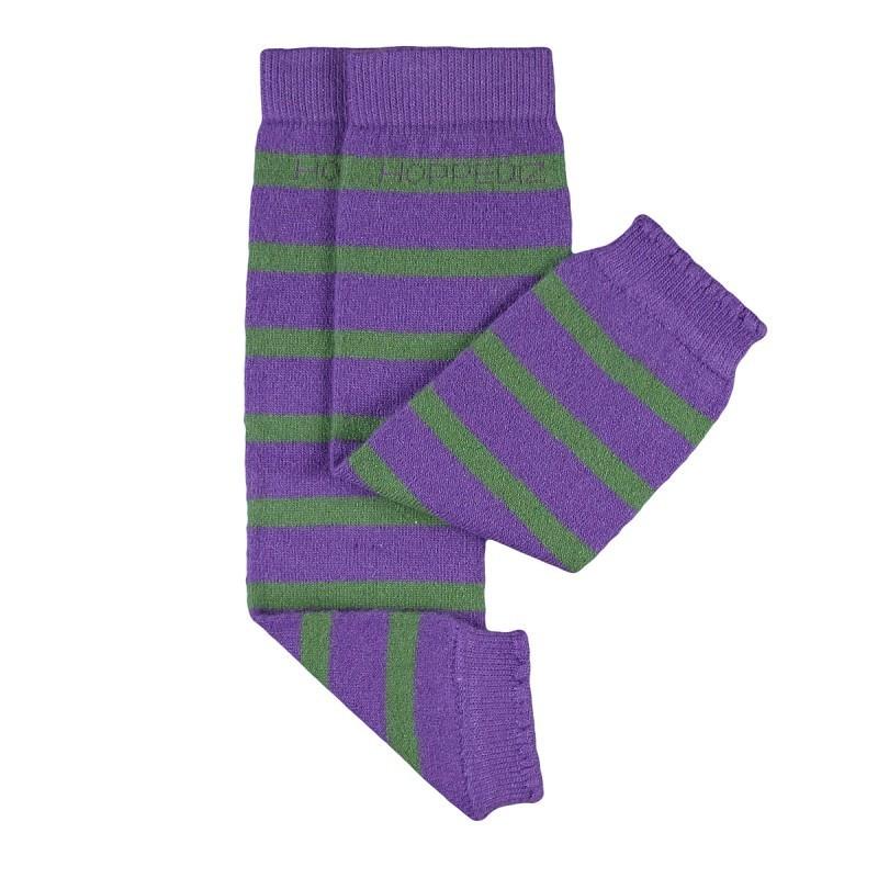 Návleky Hoppediz merino zeleno-fialové
